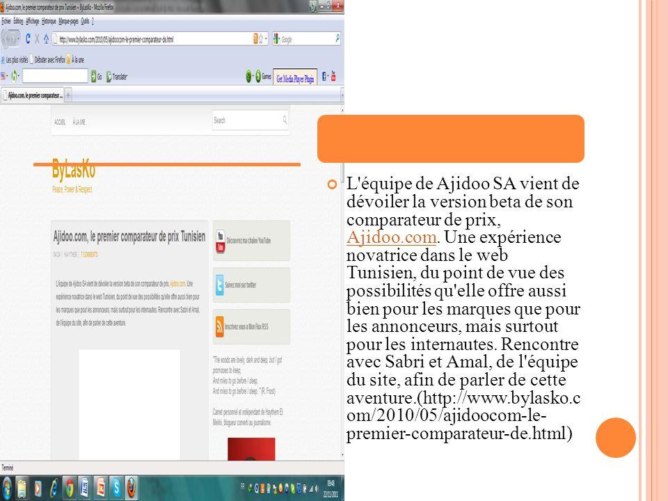 L équipe de Ajidoo SA vient de dévoiler la version beta de son comparateur de prix, Ajidoo.com.
