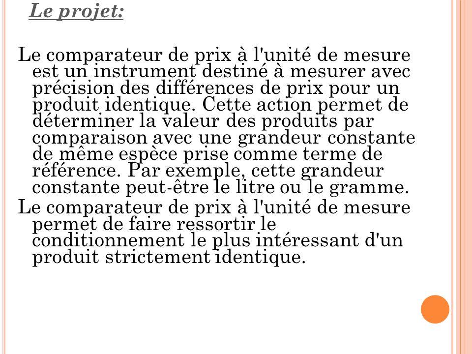 Le projet: