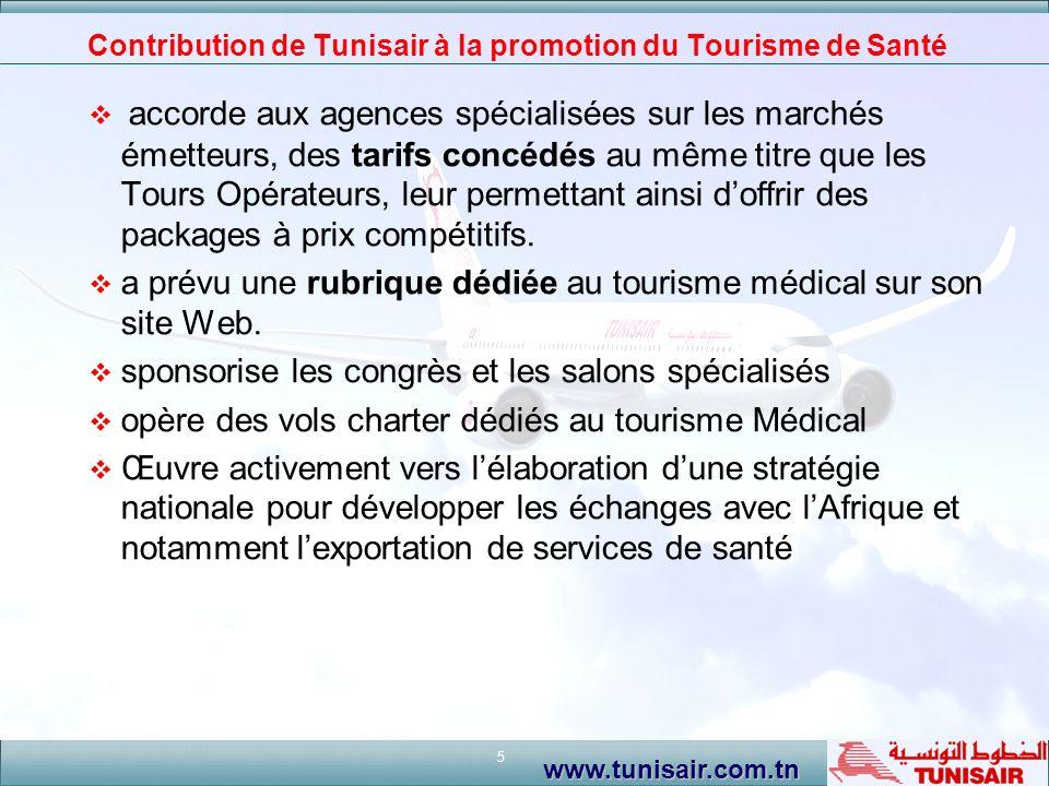 Contribution de Tunisair à la promotion du Tourisme de Santé