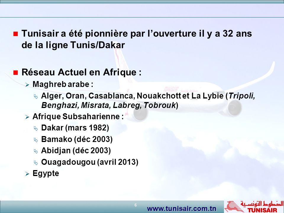 Réseau Actuel en Afrique :