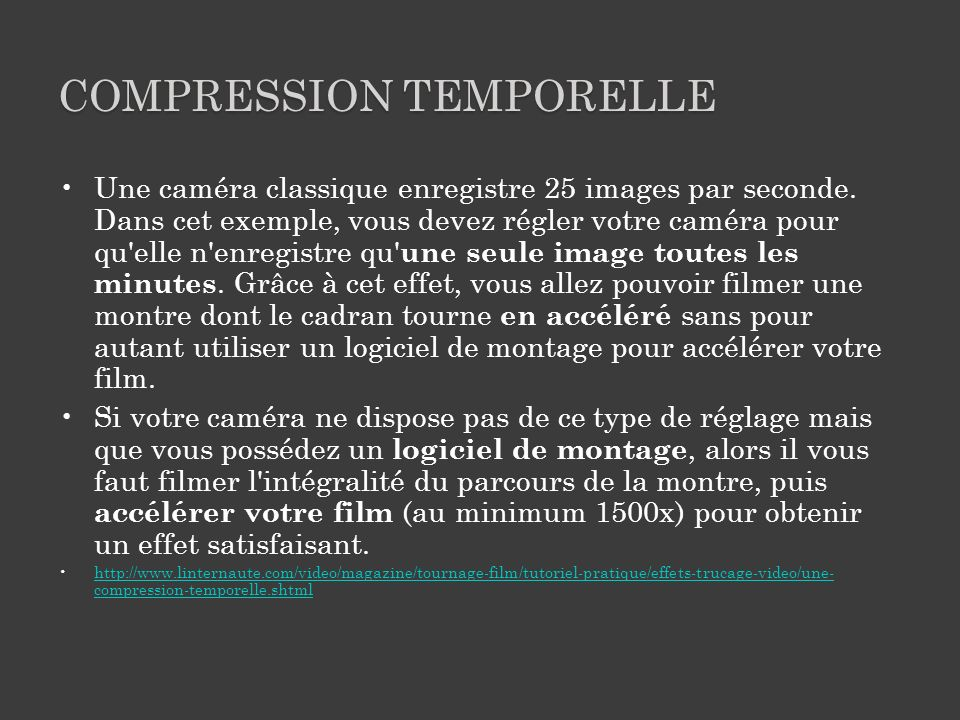 Compression temporelle