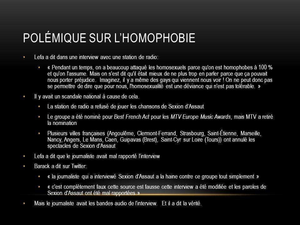 Polémique sur l'homophobie