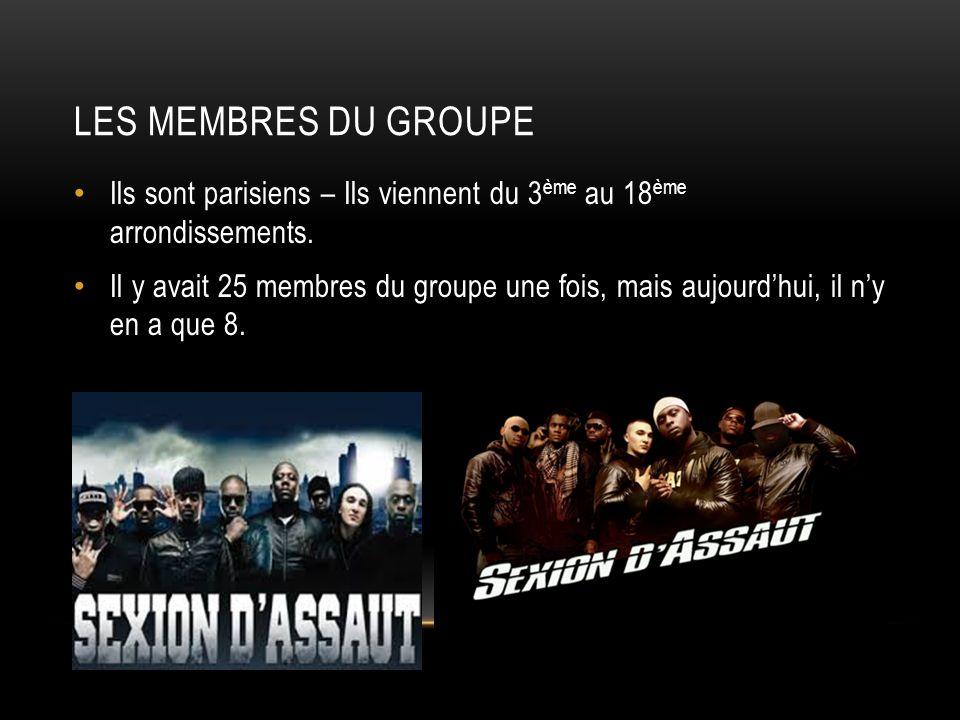 Les membres du groupe Ils sont parisiens – Ils viennent du 3ème au 18ème arrondissements.