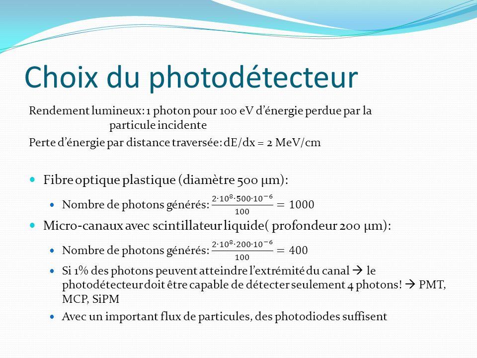 Choix du photodétecteur