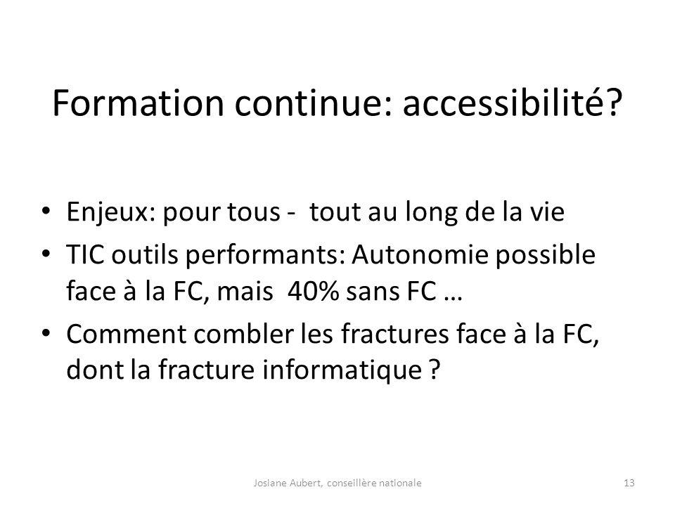 Formation continue: accessibilité