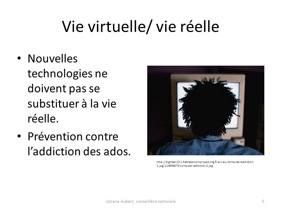 Vie virtuelle/ vie réelle