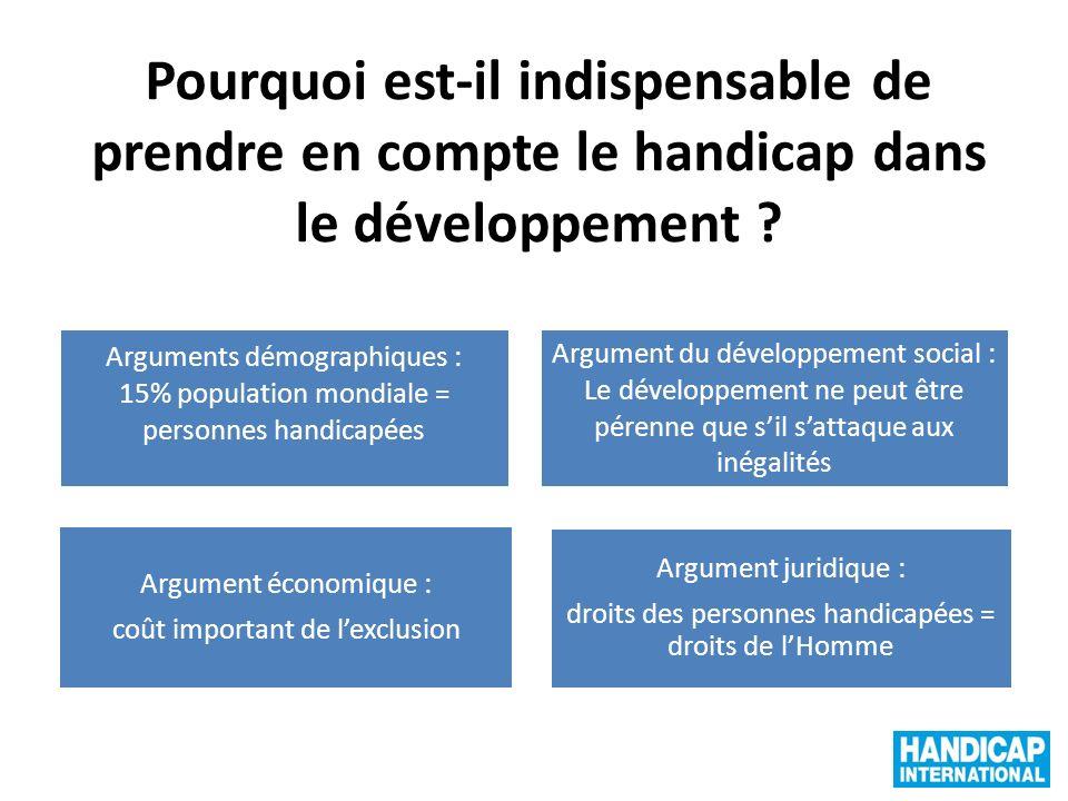Pourquoi est-il indispensable de prendre en compte le handicap dans le développement