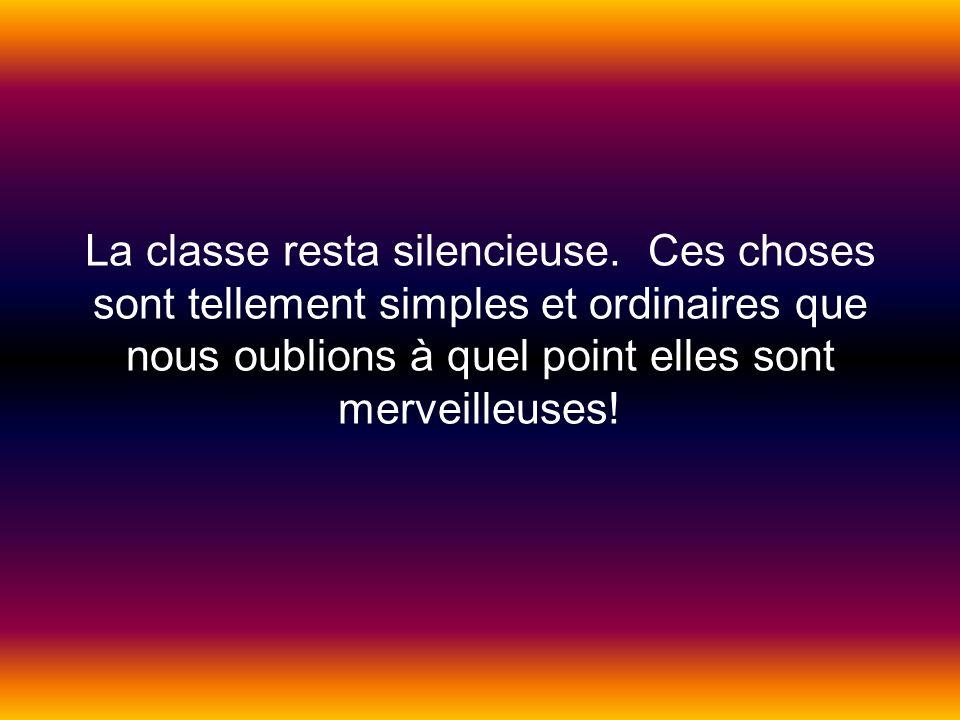 La classe resta silencieuse