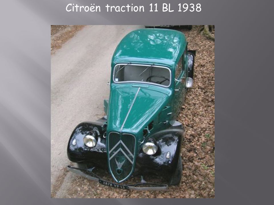 Citroën traction 11 BL 1938