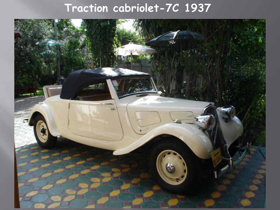 Traction cabriolet-7C 1937