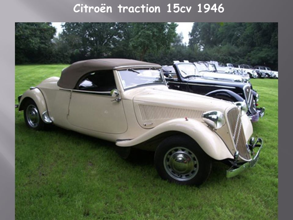 Citroën traction 15cv 1946