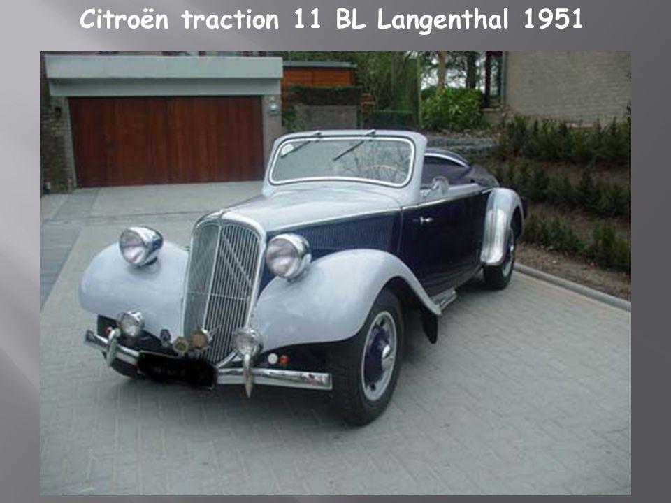 Citroën traction 11 BL Langenthal 1951