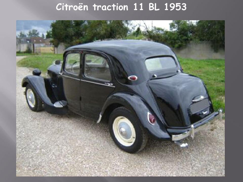 Citroën traction 11 BL 1953