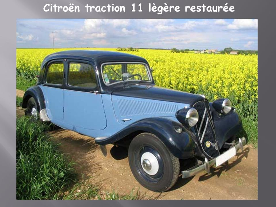 Citroën traction 11 lègère restaurée