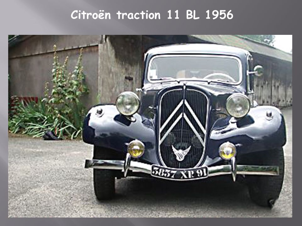 Citroën traction 11 BL 1956