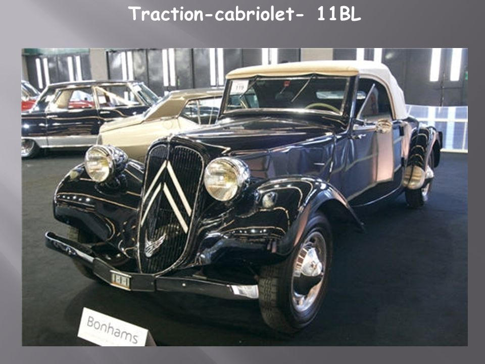 Traction-cabriolet- 11BL