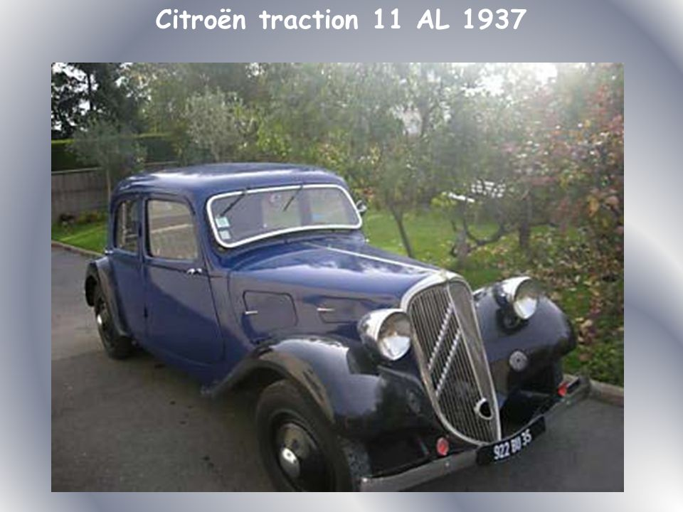 Citroën traction 11 AL 1937