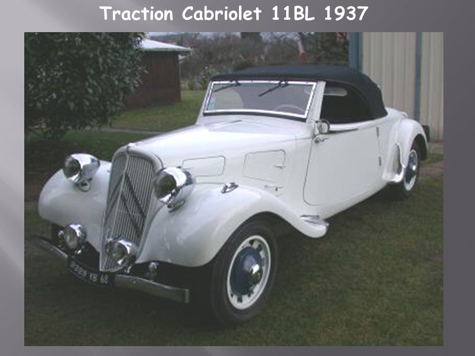 Traction Cabriolet 11BL 1937