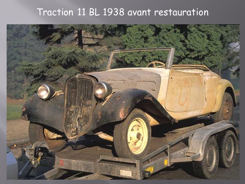 Traction 11 BL 1938 avant restauration