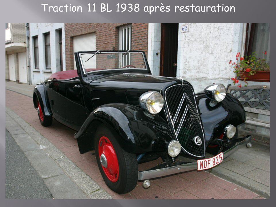 Traction 11 BL 1938 après restauration