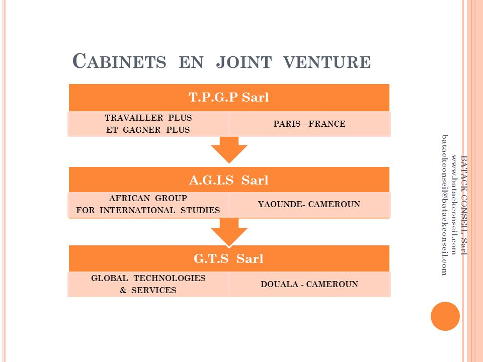 Cabinets en joint venture