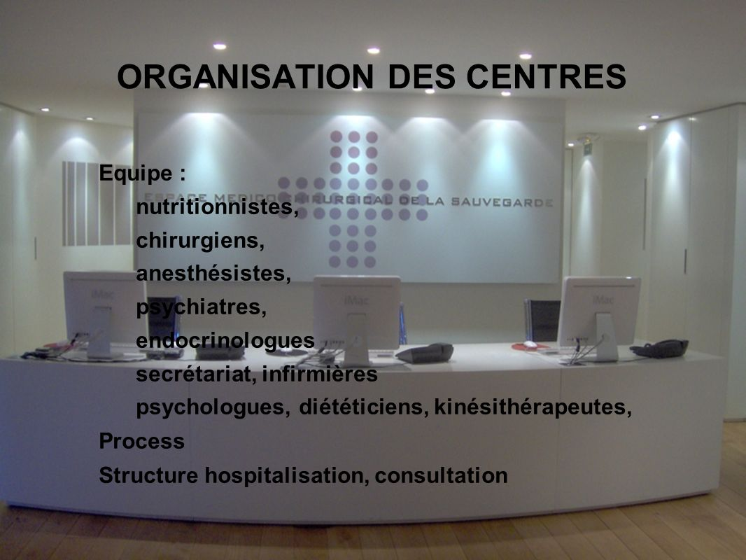 ORGANISATION DES CENTRES