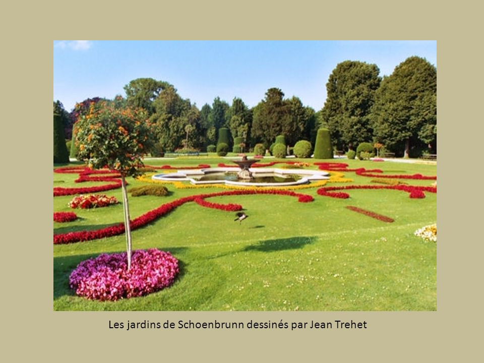 Les jardins de Schoenbrunn dessinés par Jean Trehet