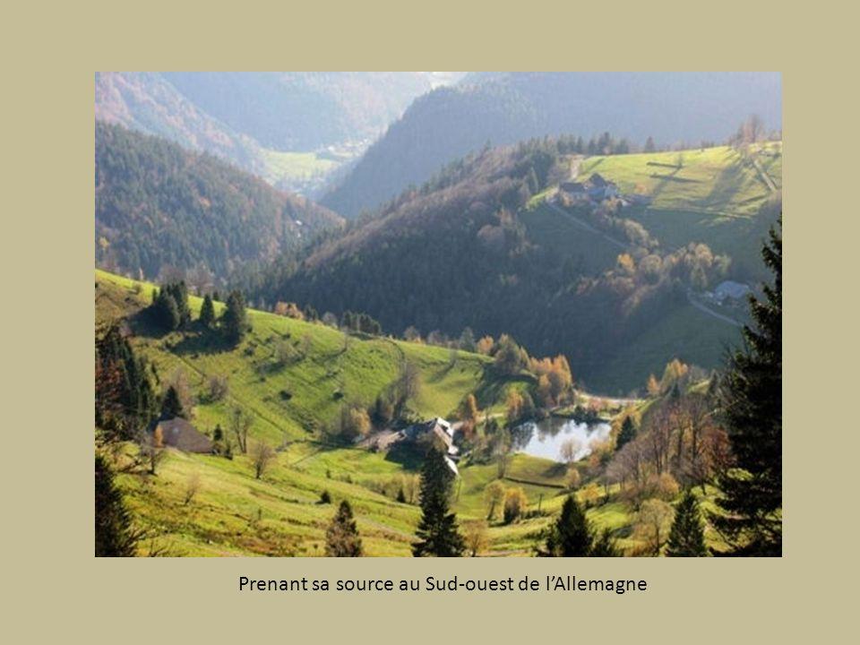 Prenant sa source au Sud-ouest de l'Allemagne