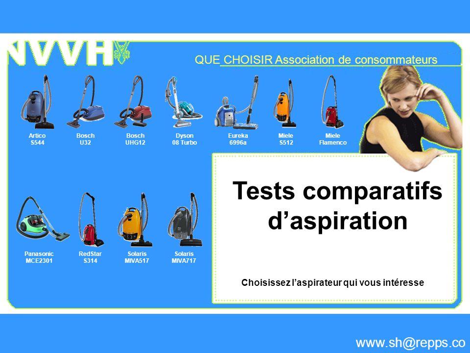 Choisissez l'aspirateur qui vous intéresse