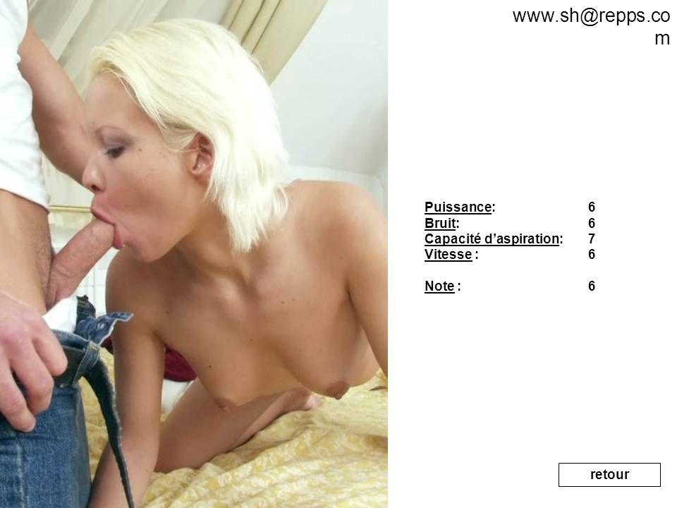 www.sh@repps.com Puissance: Bruit: Capacité d'aspiration: Vitesse :