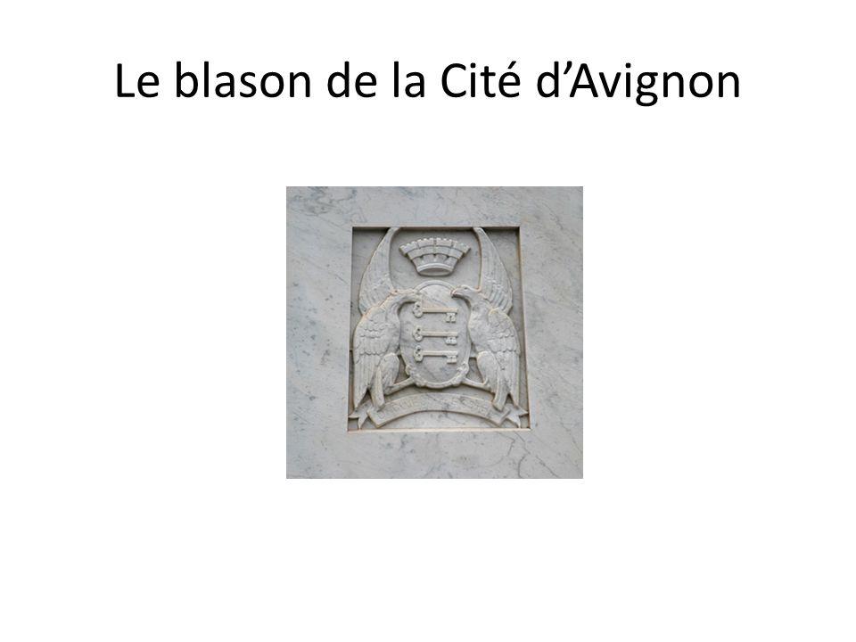 Le blason de la Cité d'Avignon