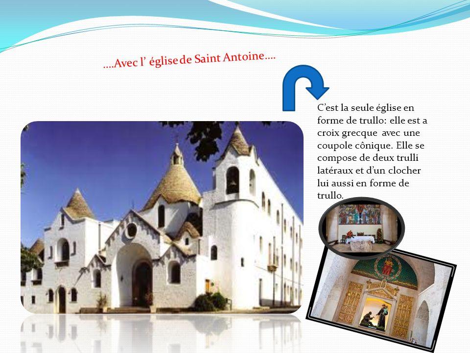 ….Avec l' église de Saint Antoine….