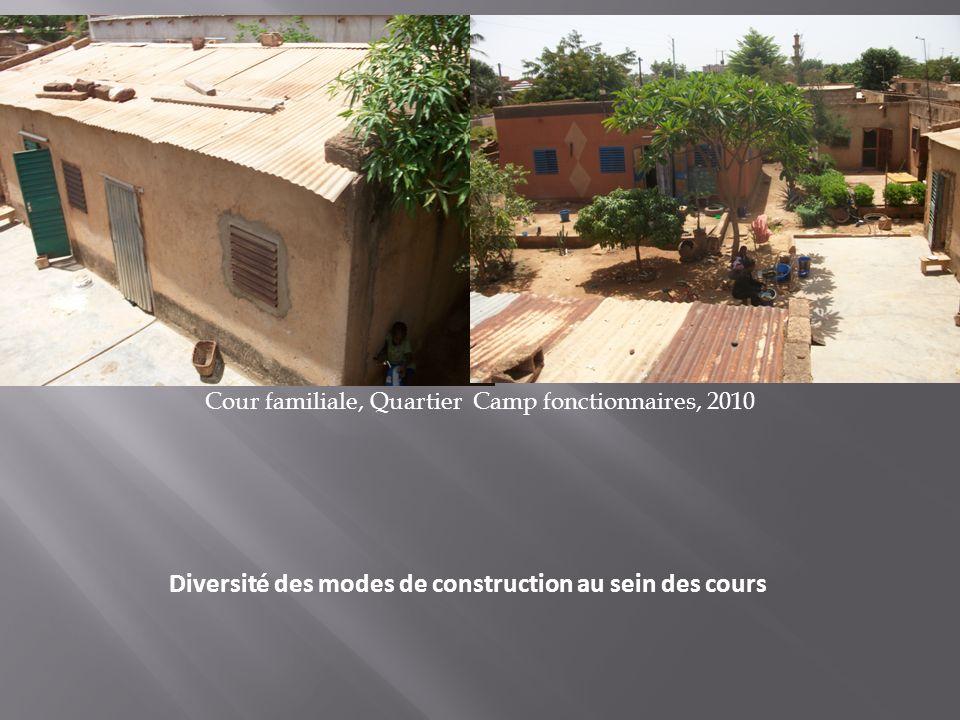 Diversité des modes de construction au sein des cours