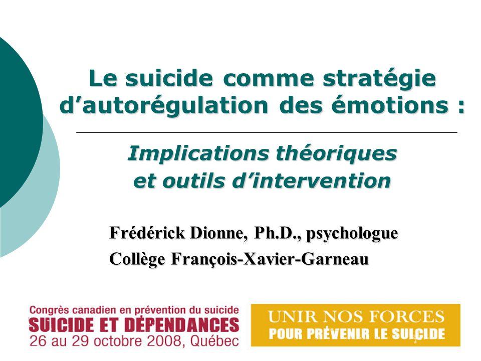 Frédérick Dionne, Ph.D., psychologue Collège François-Xavier-Garneau