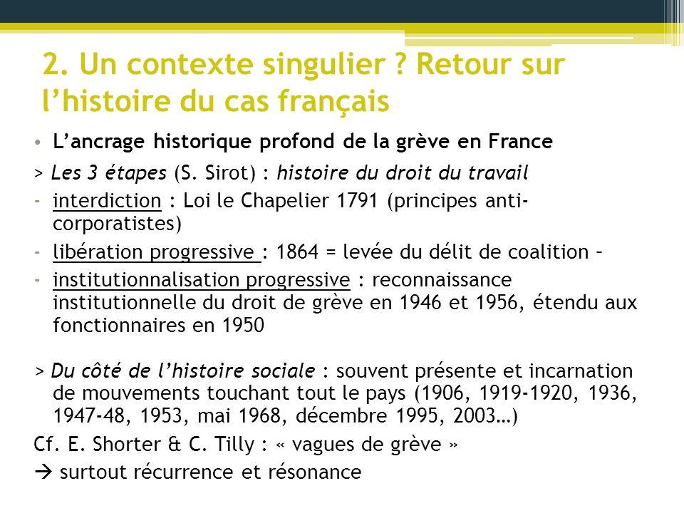 2. Un contexte singulier Retour sur l'histoire du cas français