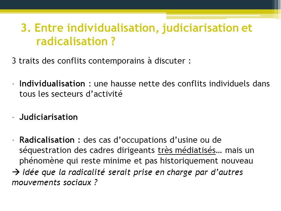 3. Entre individualisation, judiciarisation et radicalisation