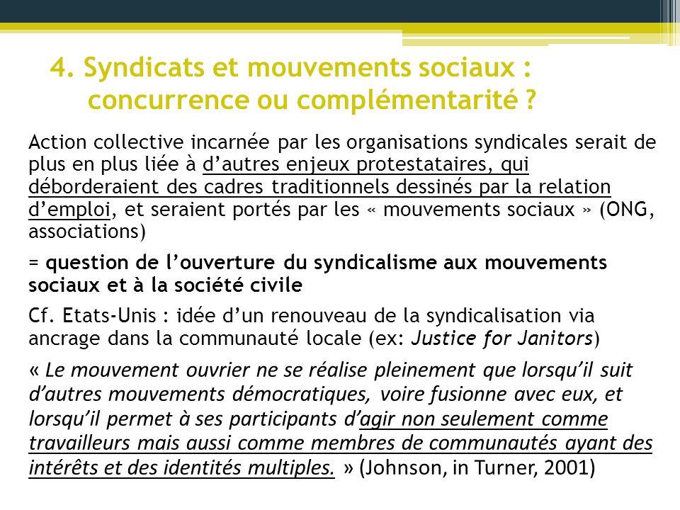 4. Syndicats et mouvements sociaux : concurrence ou complémentarité