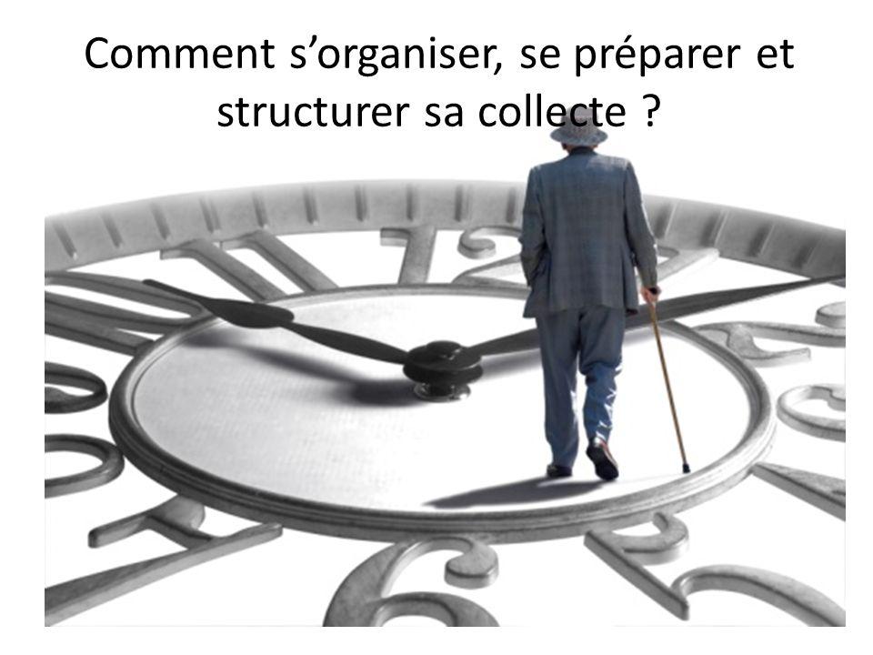 Comment s'organiser, se préparer et structurer sa collecte