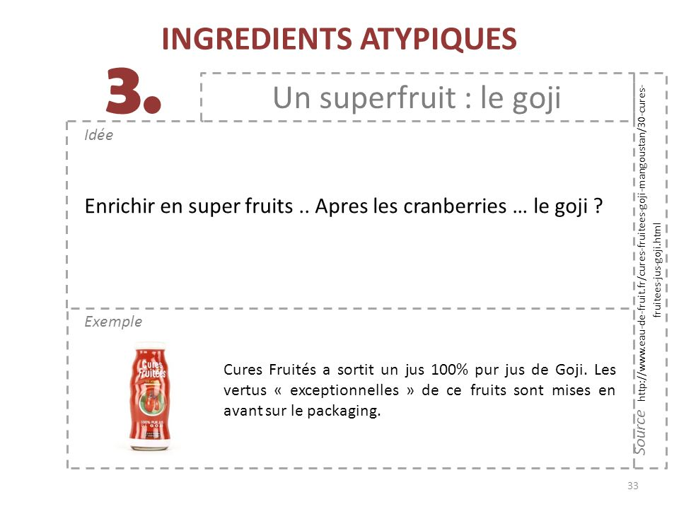 INGREDIENTS ATYPIQUES