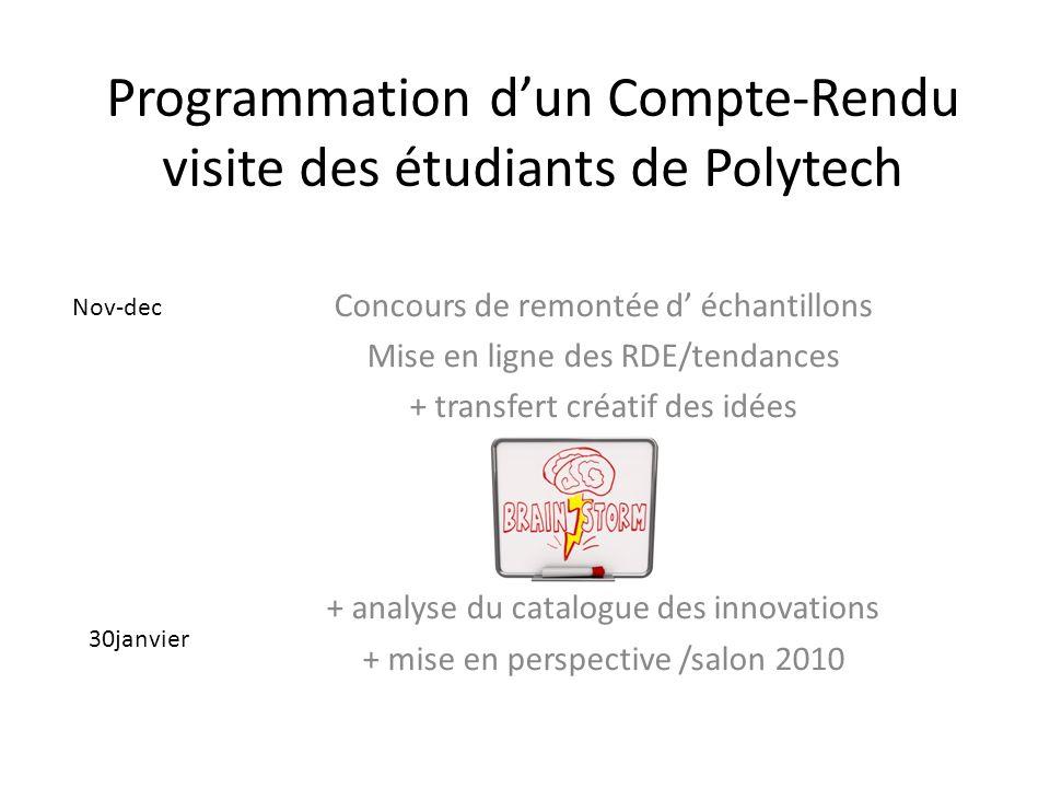 Programmation d'un Compte-Rendu visite des étudiants de Polytech