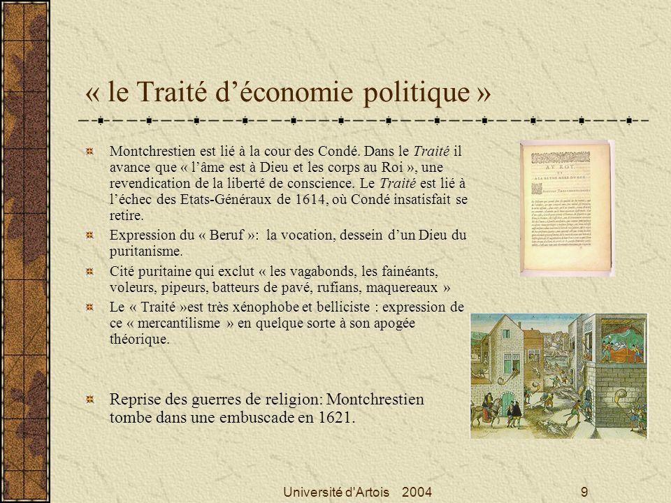 « le Traité d'économie politique »