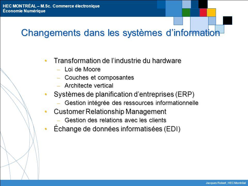 Changements dans les systèmes d'information