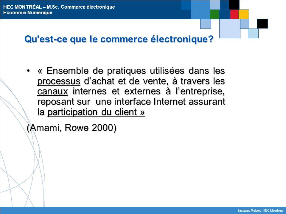 Qu est-ce que le commerce électronique