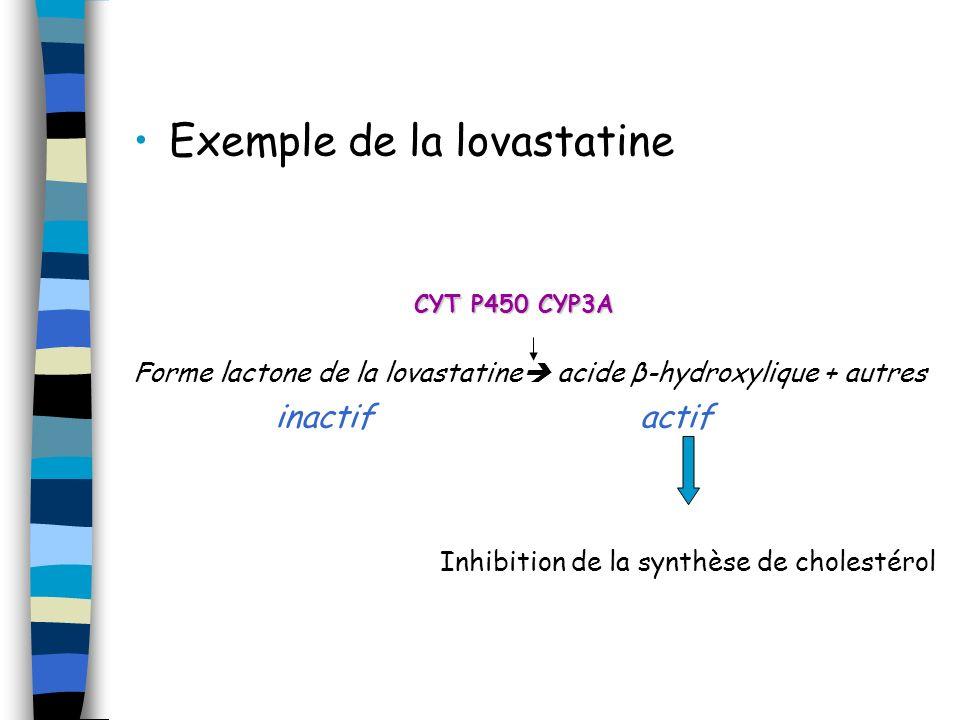 Exemple de la lovastatine