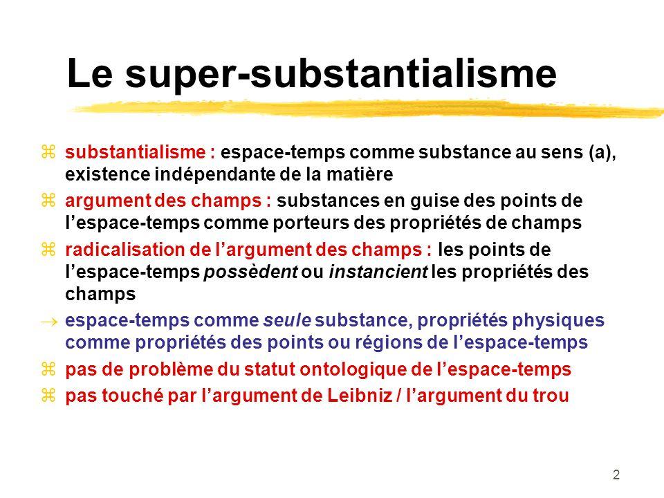 Le super-substantialisme