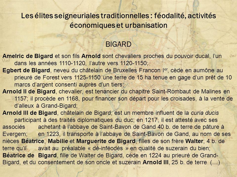 Les élites seigneuriales traditionnelles : féodalité, activités économiques et urbanisation BIGARD