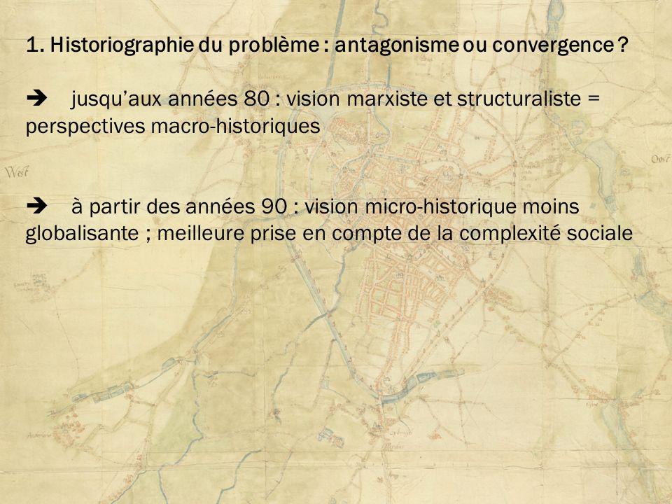 1. Historiographie du problème : antagonisme ou convergence
