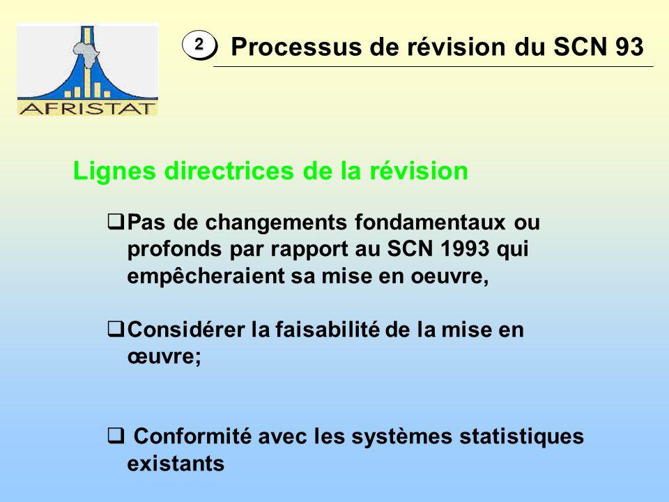 Processus de révision du SCN 93
