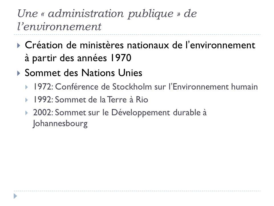 Une « administration publique » de l'environnement