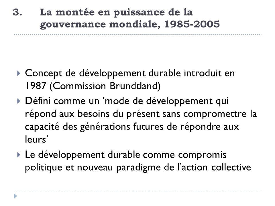 3. La montée en puissance de la gouvernance mondiale, 1985-2005